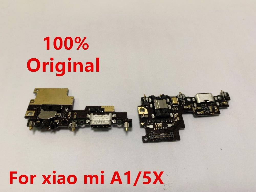 for Xiaomi Mi A1 Charging Port Flex Cable Charging Dock Connector PCB Board Ribbon Flex Cable + Headphone Jack Audio Mi  A1+mic