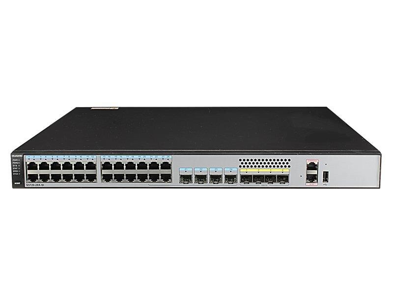 S5720-28X-SI-AC Huawei 24 puertos Gigabit capa 3 núcleo interruptor 4 puertos 10 Gigabit SFP +