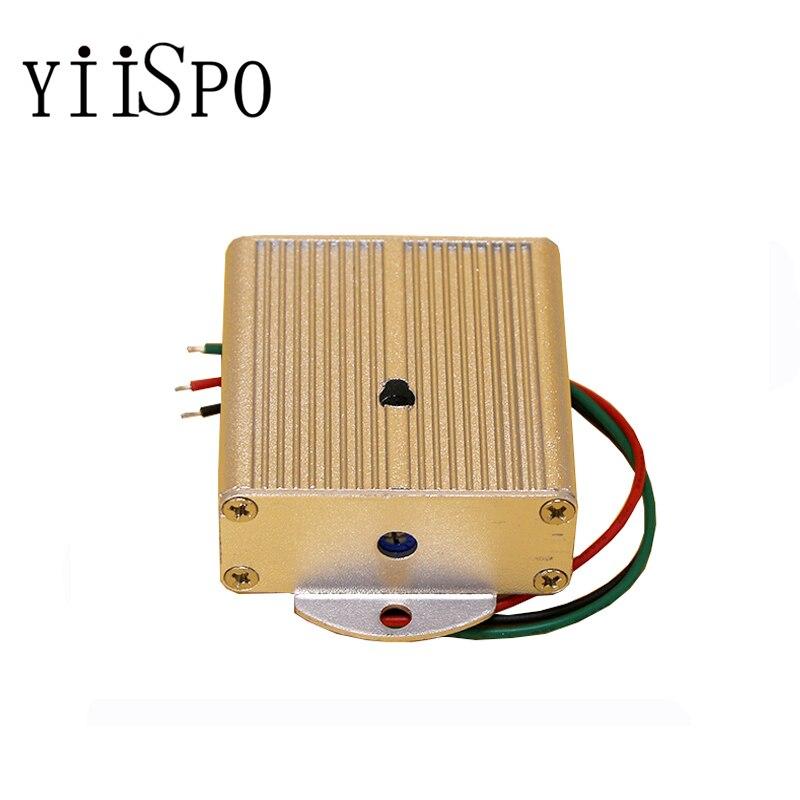 YiiSPO CCTV microfone monitor de som para câmera de cftv voz áudio mic cinza metal shell receptor de áudio