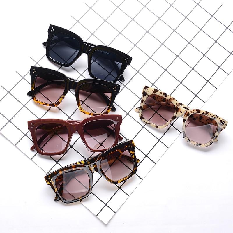 Солнцезащитные очки женские, черные, большие, квадратные, градиентные, летние, классические