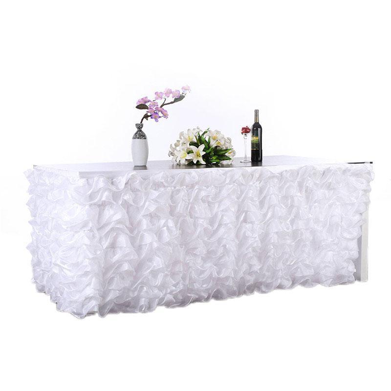 HobbyLane اليدوية الوردي متموج تول مفرش طاولة لحفل الزفاف Britday ديكور للطاولات ديكور المنزل 275*80 سنتيمتر الوردي