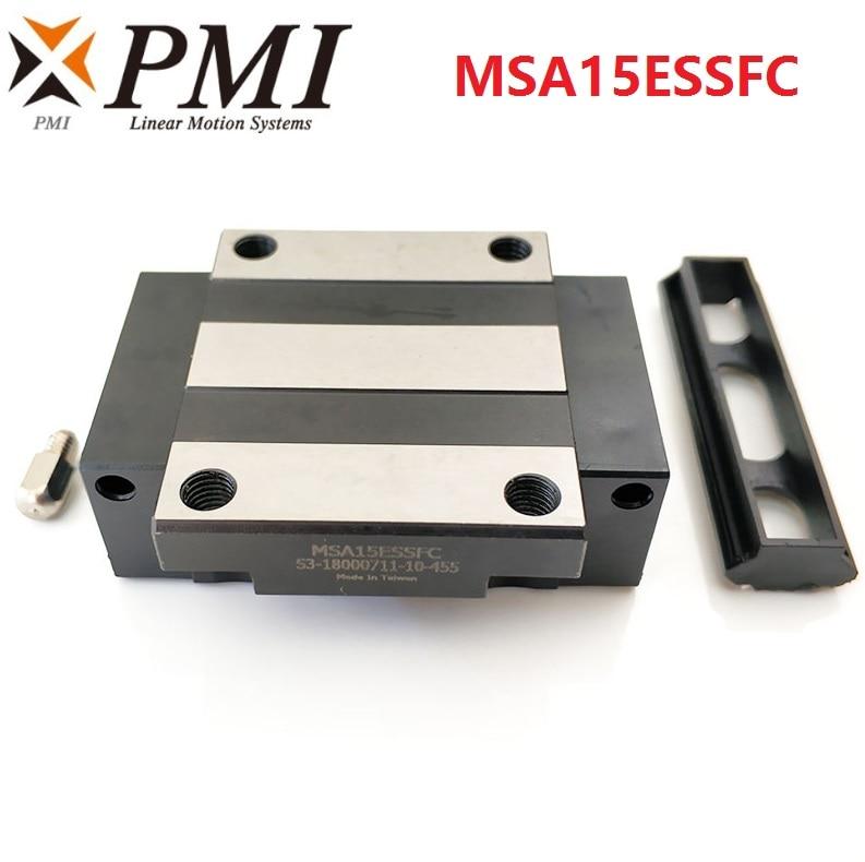 8 قطعة الأصلي تايوان PMI MSA15E-N MSA15ESSFC N الخطي الارشادية الشريحة كتلة النقل ل CO2 الليزر آلة CNC راوتر MSA15E