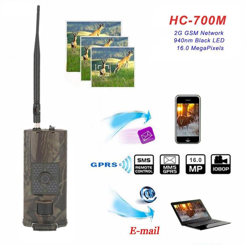 2G GSM كاميرا تعقب 0.5s الزناد الوقت 16MP للرؤية الليلية الحياة البرية صور فخ HC700M الصيد كاميرات مسجل لمساح المنزل