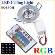 10pcs led 전구 램프 3 w rgb 16 색 스포트 라이트 AC85-265V + ir 원격 제어 rgb led 천장 통