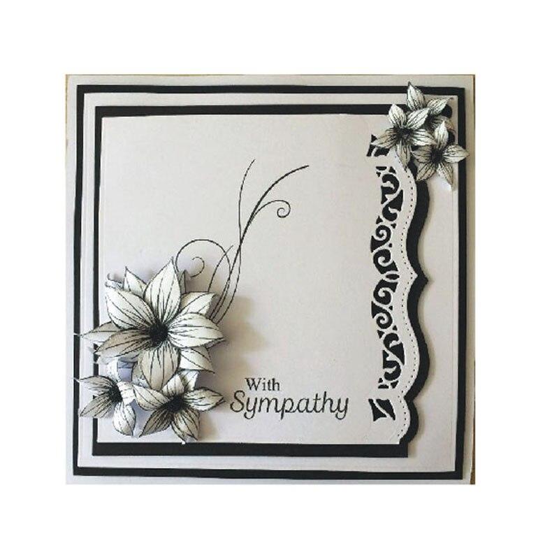 Troqueles de corte de flores tarjetas de felicitación Scrapbooking Die 3D sello DIY Scrapbooking tarjeta adornos para fotos lacework