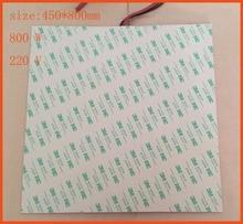 Résistance de chauffe électrique 800 w 220 v   450x800mm 3m, Dual100k termistore filo di piombo gomma di silicone, riscaldatore, électrique