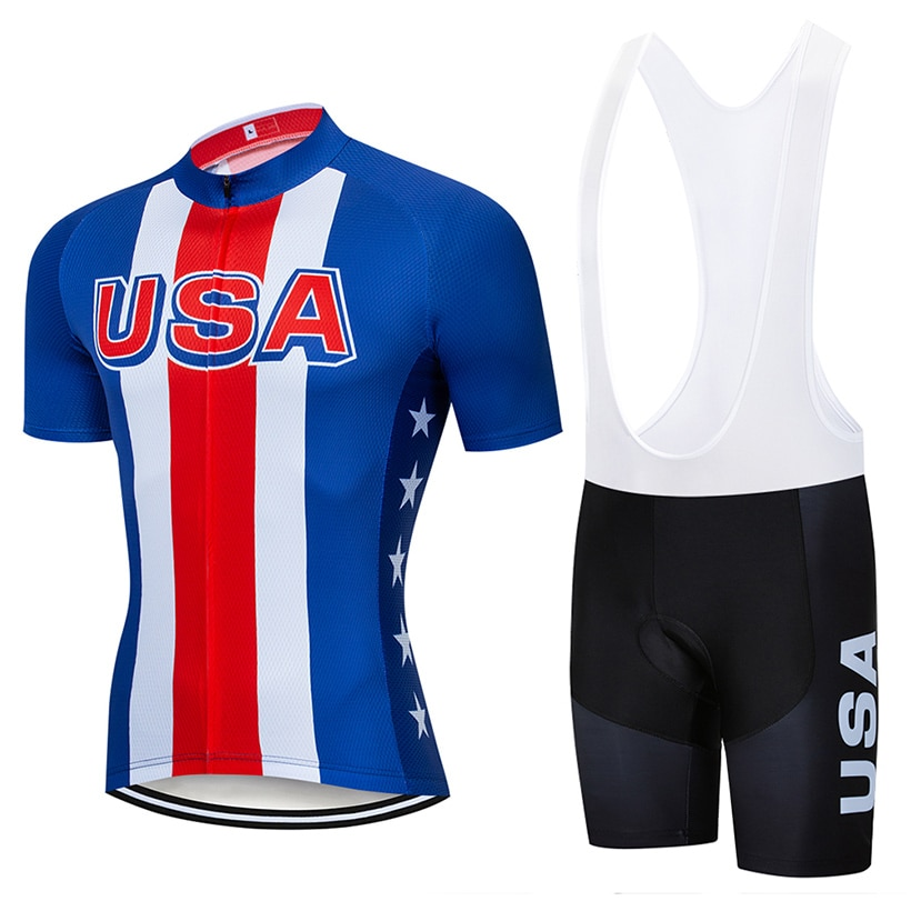 Conjunto de Ropa de Ciclismo del equipo de EE. UU. Para hombre,...