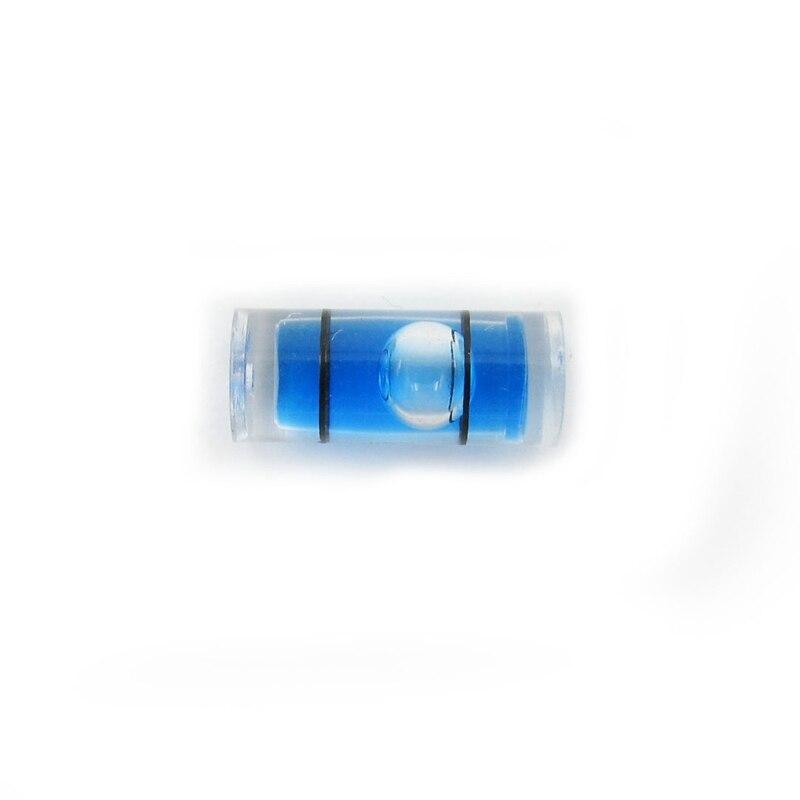 Tube Spirit Level Mini Plastic Tube Level Bubble for Level Measurement Instrument Diameter 5mm Length 12mm Bule Color