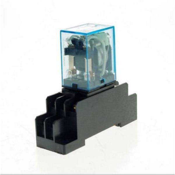 MY2P HH52P MY2NJ relé 24V AC bobina de alta calidad de uso general DPDT micro minirelé con zócalo base soporte