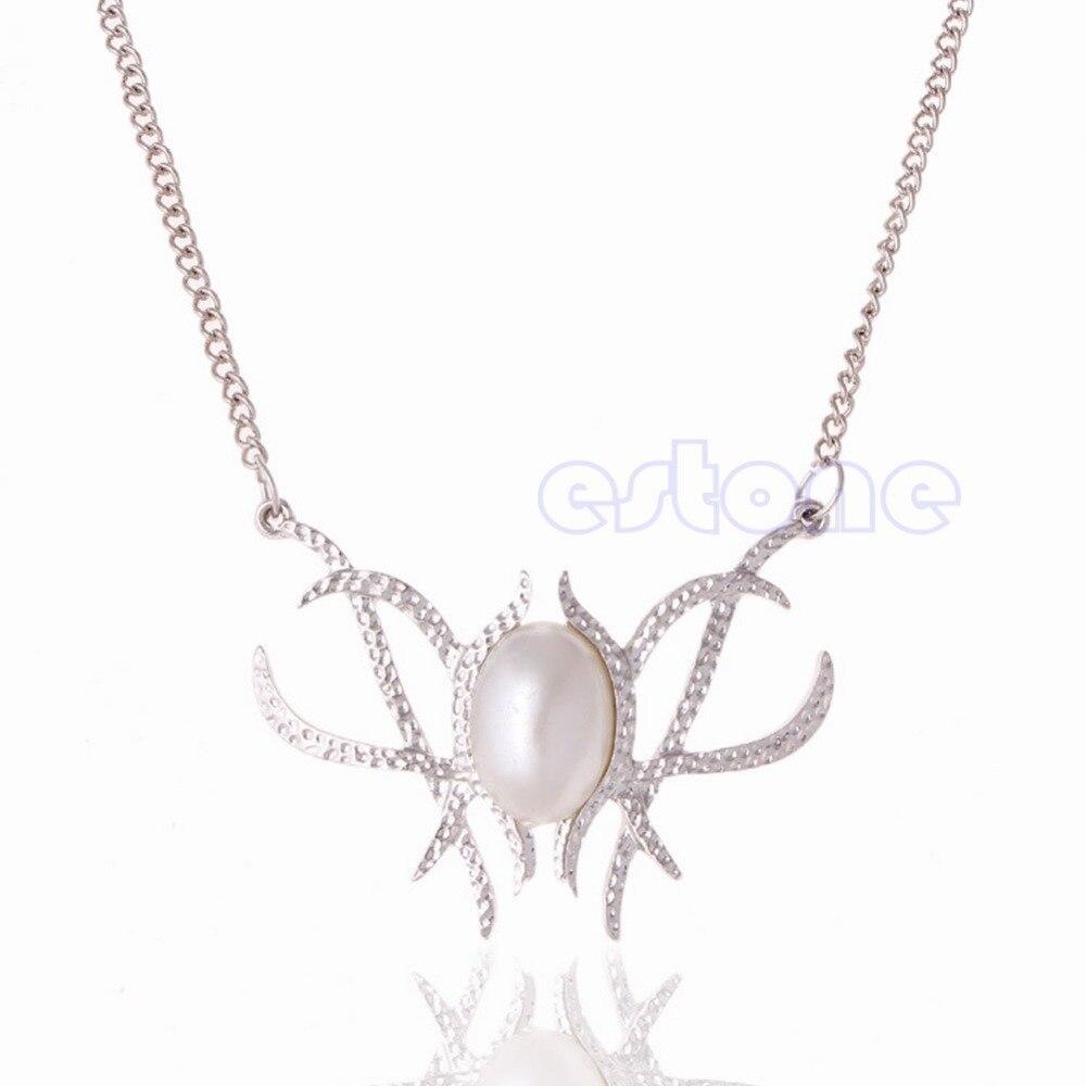 Модное женское ожерелье с искусственным жемчугом, ожерелье с подвеской в стиле Хоббита, Сказочная королева