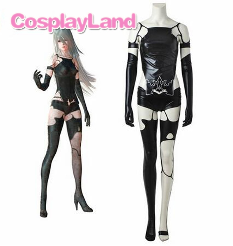 Game NieR Automata A2 Cosplay Costume YoRHa Type A No. 2 Sexy Cosplay Outfit Women Halloween Black Suit Custom Made pocket monster cosplay costume pokemon go cosplay clothing male trainer team valor game anime outfit three color custom made