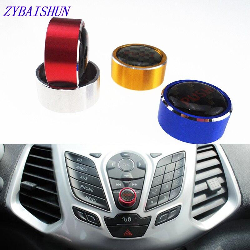 Автомобильные алюминиевые кнопки регулировки громкости, накладка, кнопки, наклейки, чехлы для Ford New Focus 3 MK3 to MK4 2012-2016, аксессуары