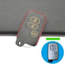 Leder Auto Schlüssel Fall Für Toyota Land Cruiser Prado 150 Avensis Prius Crown Für Subaru Forester XV 3 taste Abdeckung remote Protector