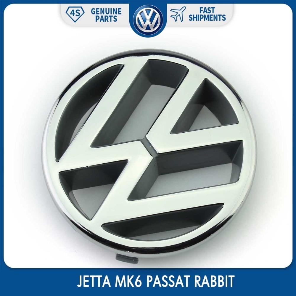 Logo cromado de 10 cm, Calcomanía para parrilla frontal, emblema para Volkswagen VW JETTA MK6 PASSAT RABBIT 191 853 601 H
