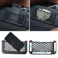 Sac en filet pour téléphone portable   Porte-filet de voiture, bâton pratique, réseau de gants, chaîne de voiture, sac en maille, pochette de rangement pour Gadget de téléphone portable