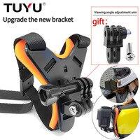 TUYU мотоциклетный шлем экшн Камера ремень крепления переднего подбородка крепление для GoPro Hero 9/8/7/6/5/4Session для экшн камеры Yi 4K SJCAM доступа