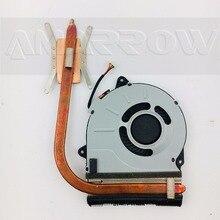 Dorigine livraison gratuite Ordinateur Portable dissipateur thermique pour processeur ventilateur de refroidissement Pour Lenovo G50-45 G50-30 G50-70 G50-80 AT0TG0010W0 AT0TI0010S0