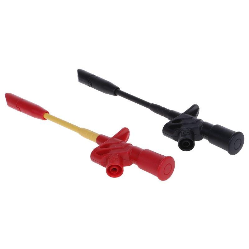 10A Professional Piercing aguja prueba Clips multímetro prueba sonda gancho con 4mm Socket Automotive Car Test Clip