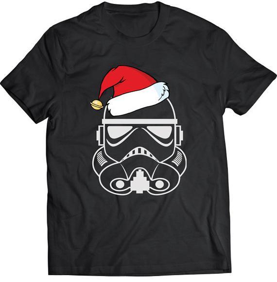 2019 nova marca engraçado storm trooper santa camiseta presente camiseta camiseta pai camisa hoodies