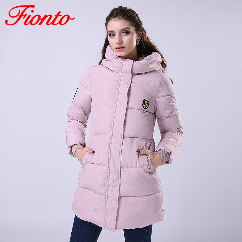 FIONTO, invierno, nueva moda, Chaqueta larga de invierno, abrigo ajustado para mujer, Parka gruesa, ropa de algodón, ropa con capucha para estudiante, A020