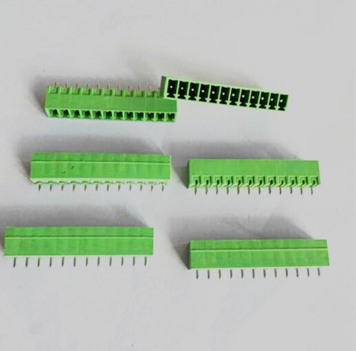 100 Uds hembra 3,5 MM Paso 2P 3P 4P ~ 10P terminal enchufable PCB bloque KF2EDG/KF2EDGK-3.5mm