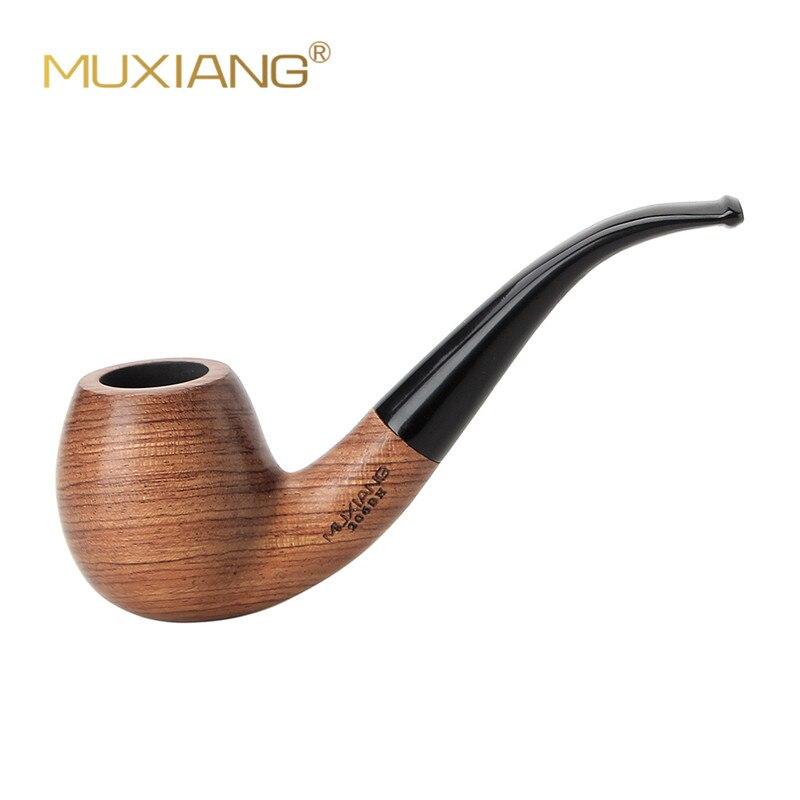 Muxiang 10 ferramentas kit importado kevazingo madeira dobrada tubo de tabaco para fumar 9mm filtro bom para coleção masculina ad0018