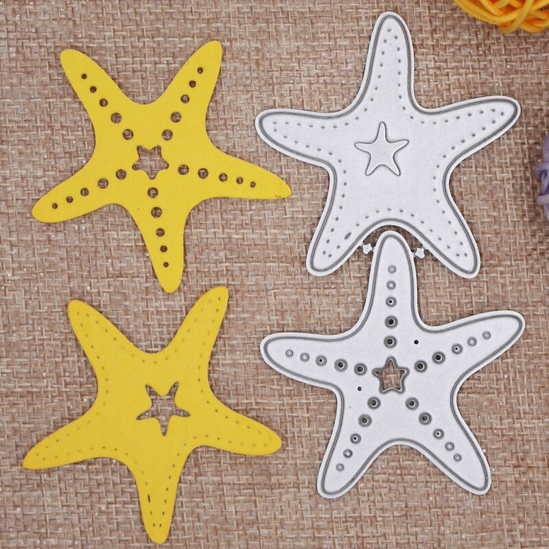 hollow starfish  decoration Metal steel frames Cutting Dies DIY Scrap booking Photo Album Embossing paper Cards 5.2*9.7cm