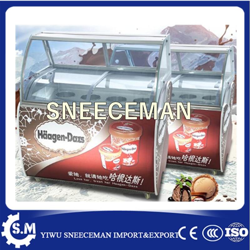 2017 Горячая продажа холодильное оборудование Электрический витрина для мороженого