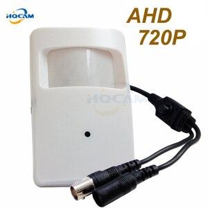 Мини-камера HQCAM, AHD, объектив 3,7 мм, 720P, 1/4 дюйма, CMOS-датчик, 720P, AHD/1000TVL, с кнопкой OSD, системы видеонаблюдения