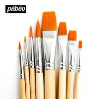 Pebeo 950250C nylon paint brushes watercolor acroleic oil painting paint rush art supplies 8pcs/set