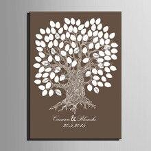 Toile de tableau à signer pour invités   Cadeau de fête de Signature, tableau à peindre en toile, arbre à peindre, décoration bricolage de mariage, livraison gratuite