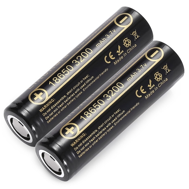 1-6 pcs liitokala Lii-32A 18650 3200 mah 충전식 배터리 3.7 v 리튬 이온 배터리 18650