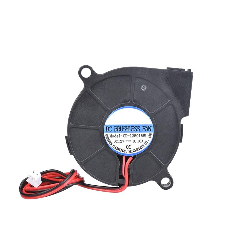 Piezas de impresora 3D 5015 ventilador 12V 24V 0.1A Turbo ventilador de refrigeración 5cm 50x50x15mm 5015/4010/3010 5V ventiladores de plástico negro para extrusora