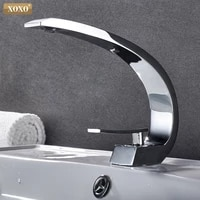 XOXO robinet de lavabo en laiton  robinets de lavabo modernes  robinet de lavabo en laiton a poignee unique trou unique grue elegante pour salle de bains 83006