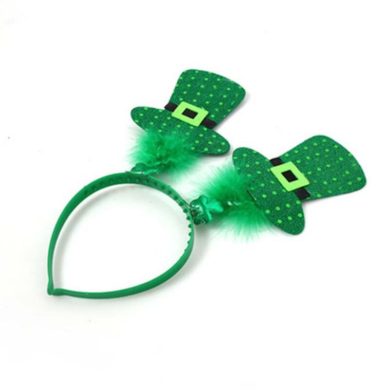 New Saint Patrick Costume Top Hat Cap Headband Ireland Green Party Irish Hats st patrick's day  birthday
