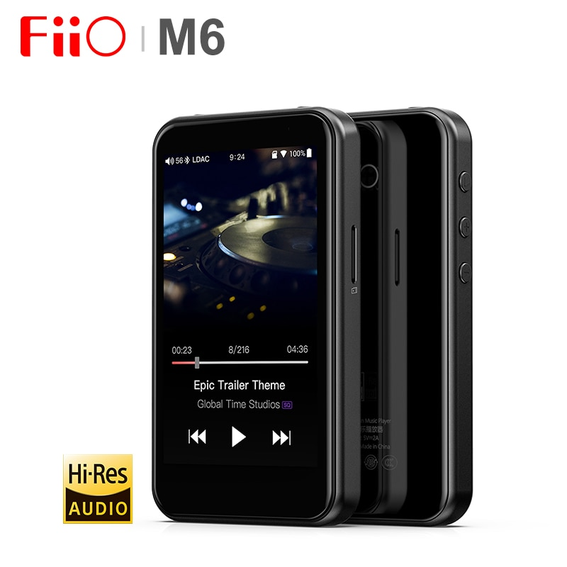 FiiO M6 Hi-Res Bluetooth HiFi Music Portable MP3 Player USB DAC ES9018Q2C Based Android with aptX HD LDAC WiFi Air Play DSD