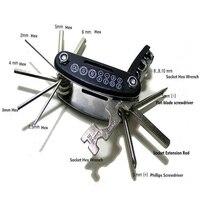 Motorcycle Travel Repair Tool Allen Key Multi Hex Wrench Screwdriver