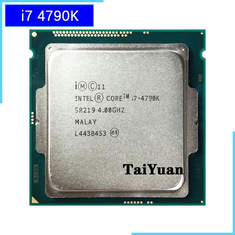 [해외] 인텔 코어 i7-4790K i7 4790K 쿼드 코어 8 스레드 CPU 프로세서 88W 8M LGA 1150