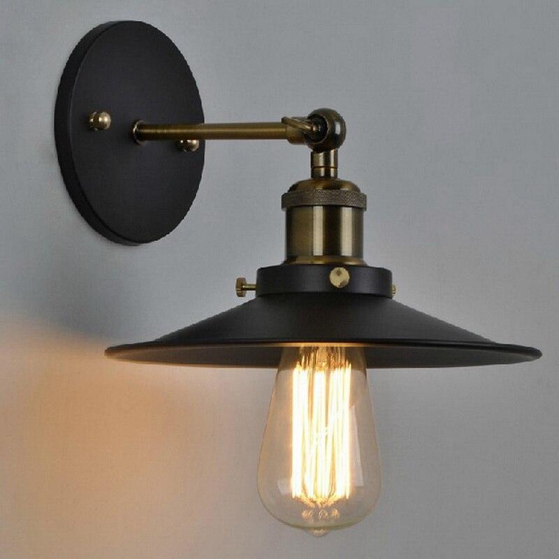 Lámpara De Pared Industrial chapada en la vendimia lámpara Retro De Pared...