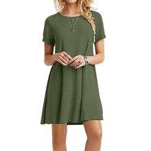 Sommer Sexy Sommerkleid Frauen Casual Rundhals Kurzarm Mini A-linie Kleid Strand Kleid Vestidos Plus größe YF1022