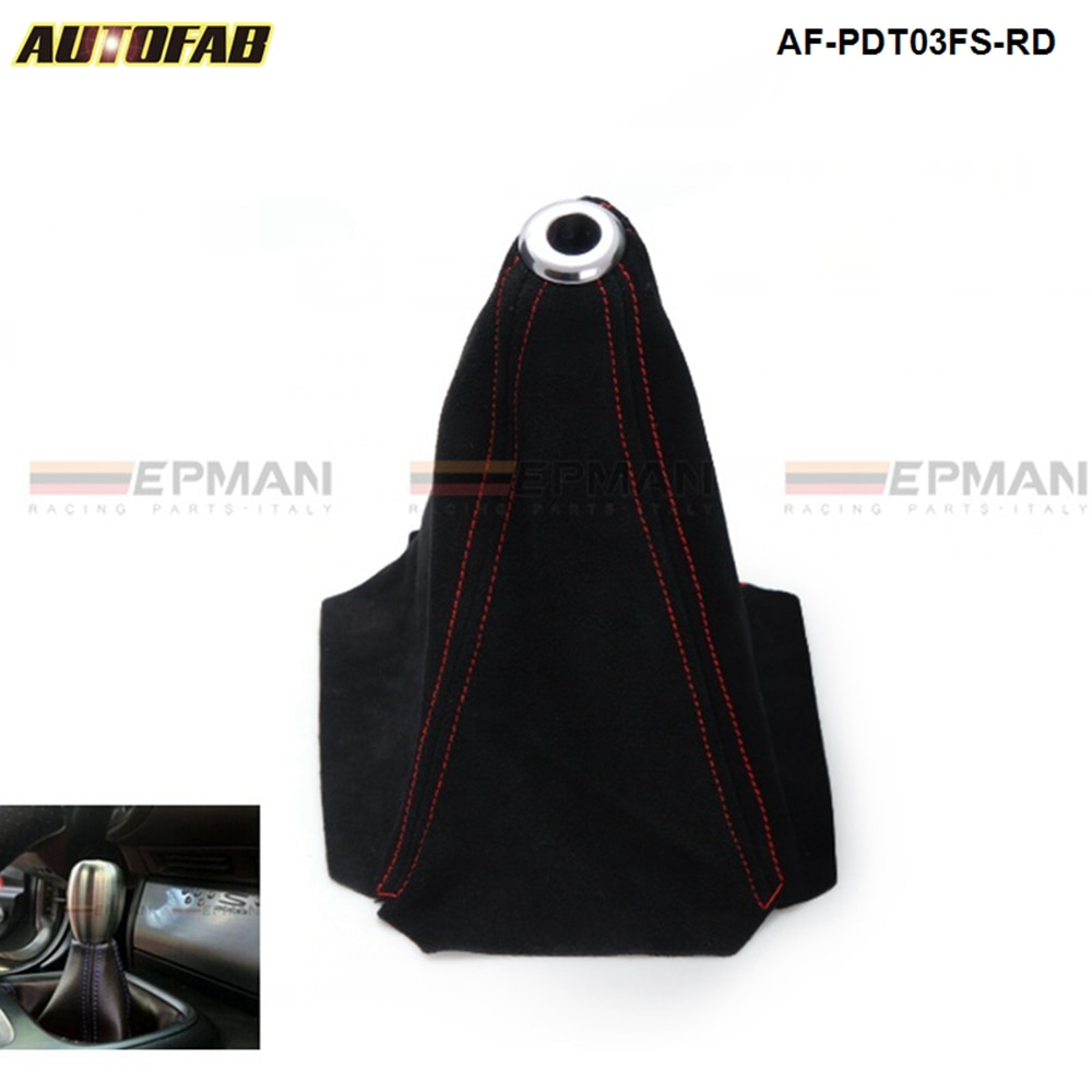 Palanca de cambios Universal Jdm de gamuza negra para cambio Manual M/T, tapa de palanca de cambios, puntada de cambio para Honda Civic J 99-00 AF-PDT03FS