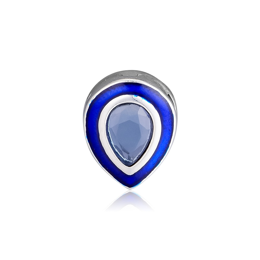 Cuentas para hacer joyas Reflexions deslumbrante Clip BlueDroplet para pulseras Reflexion para mujer DIY cuentas de plata