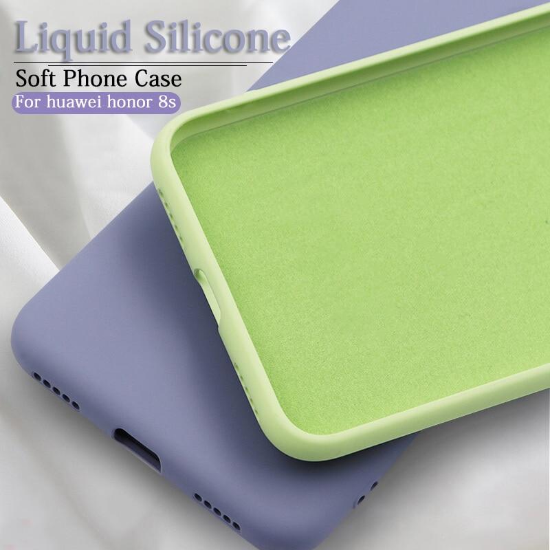 Coque en silicone liquide pour huawei honour 8 s 8a 8x téléphone souple 360 couverture sur honour 10 lite 9 lumière 8 x s a honour 10 mode funda coque