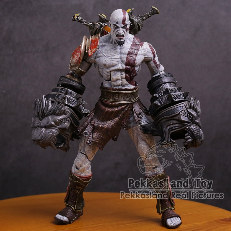 NECA-figura DE ACCIÓN DE God of War 3, fantasma de Esparta Kratos de PVC, juguete de modelos coleccionables de 22cm