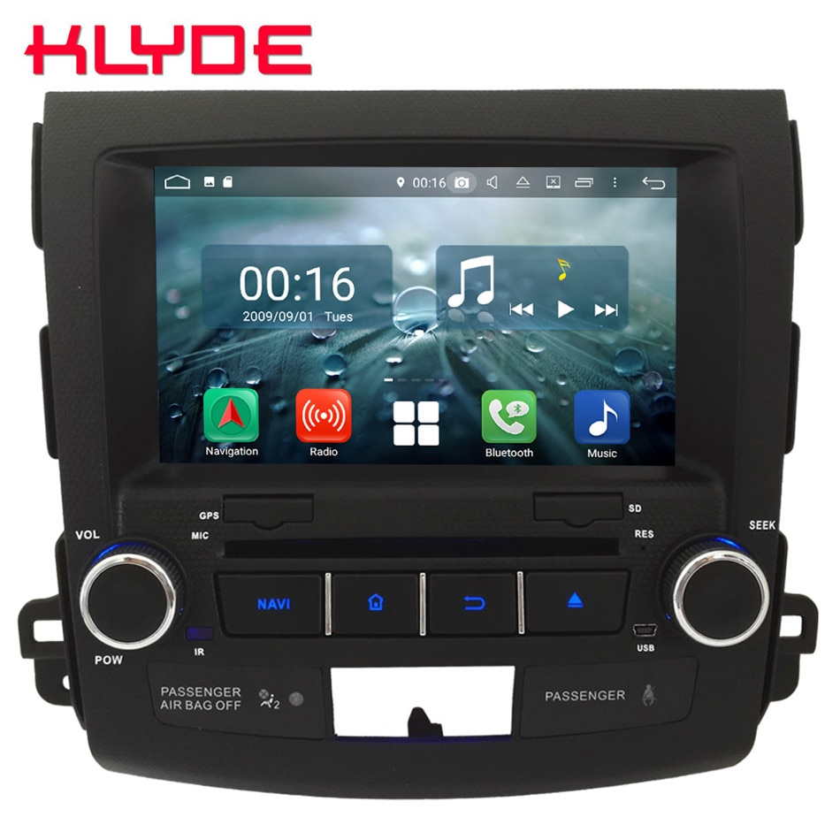"8 ""Octa Core 4G WIFI Android 8,1 4GB RAM 64GB ROM RDS coche DVD reproductor Multimedia Radio estéreo para Mitsubishi Outlander 2006-2012"