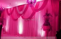 rose red wedding backdrop wholesale sequins stage backdrop for wedding decoration 10ft20ft stage backdrop with detachable swag