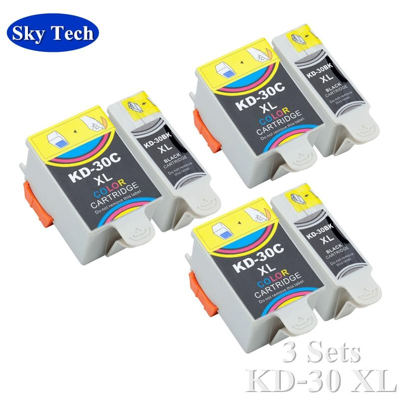 3 Sets Compatible cartridge For KD30XL KD-30XL , For Kodak ESP C110 / 310 / 315   Kodak Office 2150 / 2170   Kodak HERO 3.1/5.1