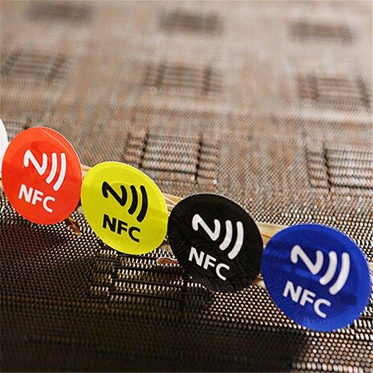 13,56 Mhz, etiqueta NFC Ntag203/Ntag213 144bytes, Compatible con cualquier teléfono inteligente con función NFC