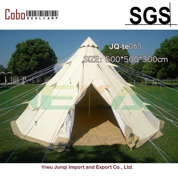 خيمة تخييم كبيرة على الطراز الهندي مزودة بهرم من 6 أشخاص مناسبة للأسرة ومأوى معدات للتنزه في الهواء الطلق