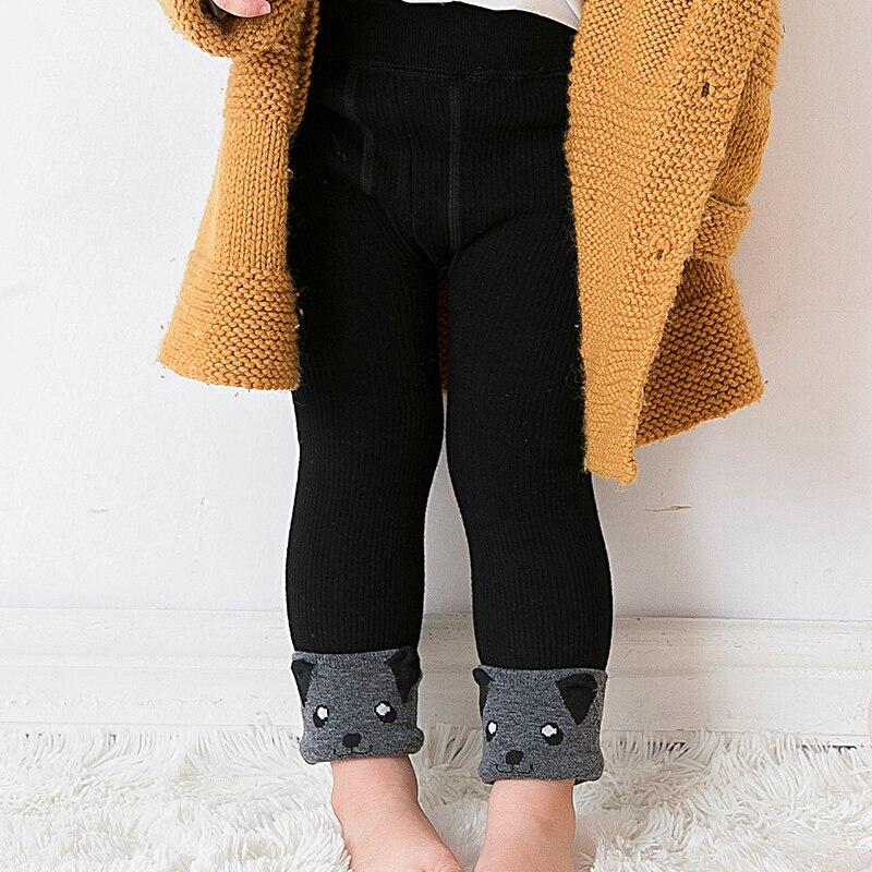 Leggings de invierno infantiles para bebés, pantalones cálidos de punto de terciopelo, pantalones para niños pequeños, pantalones de invierno para niñas
